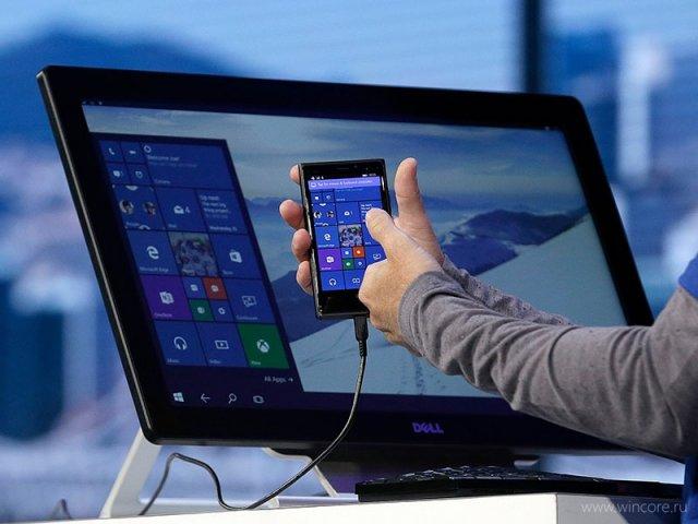 Windows 10 Mobile Redstone привнесет в Continuum поддержку сенсорных экранов и 2K-разрешения