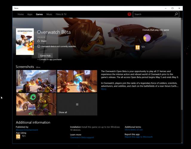 Игры из Xbox Store уже есть Windows Store