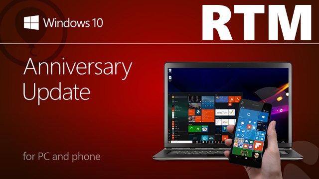 Microsoft начинает процесс подписания Windows 10 Anniversary Update