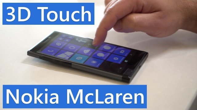 Nokia McLaren – смартфон с технологией 3D Touch