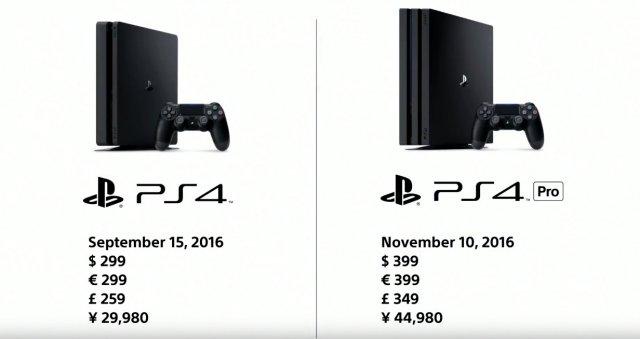Sony показала PS4 Slim и PS4 Pro