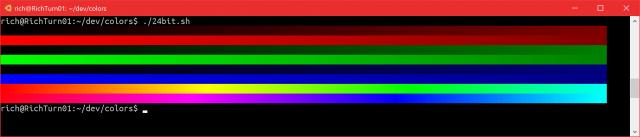 Консоль Windows стала поддерживать 24-битный цвет