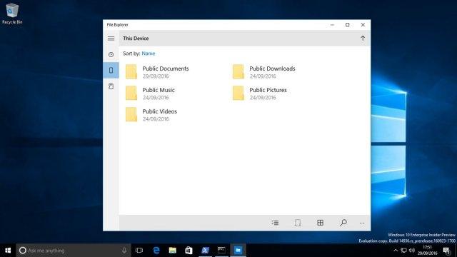Универсальное приложение Проводник в Windows 10
