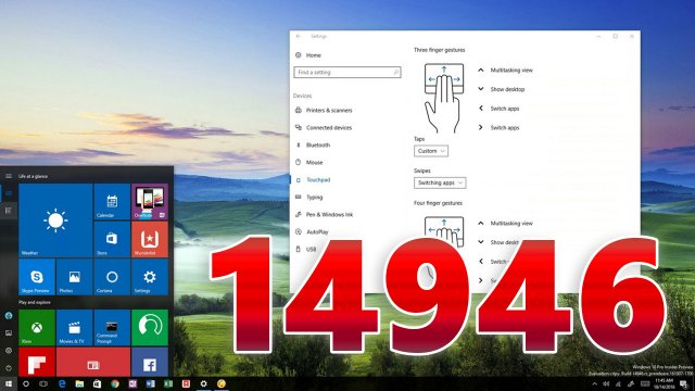 Windows 10 Build 14946 – Другие жесты, Turn Wi-Fi back on, Cortana