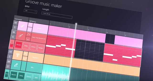 Приложение Groove Music Maker от Microsoft не было анонсировано на мероприятии компании