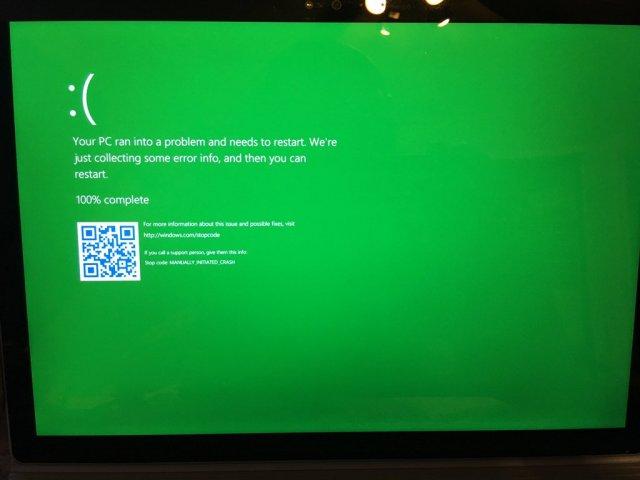 Синий экран смерти Windows 10 скоро позеленеет