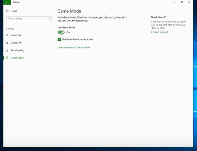 В новых сборках ожидается в Параметрах раздел Xbox c Game Mode