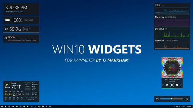 Win10 Widgets – красивые виджеты для Windows 10