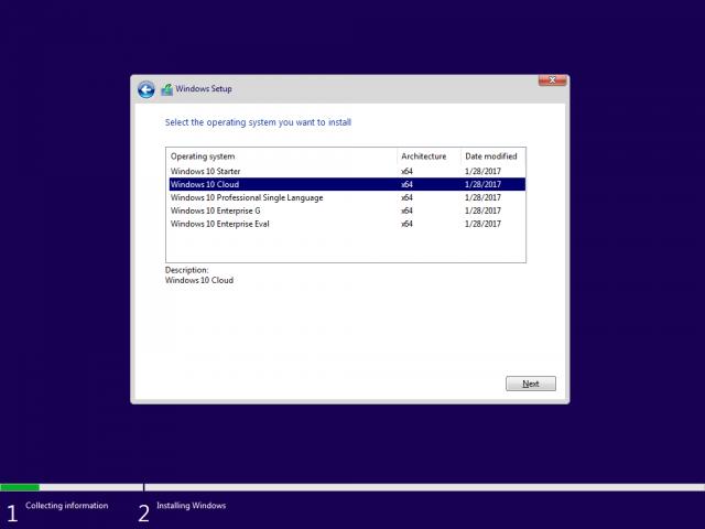 Доступна для загрузки Windows 10 Build 15025 – Редакция Cloud