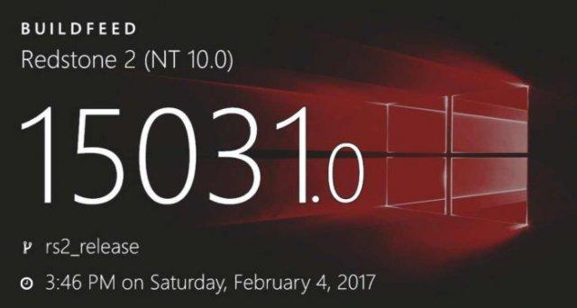 Windows 10 Build 15031 доступна для загрузки