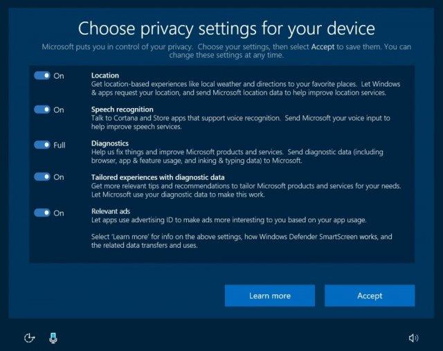 Евросоюз не удовлетворён новыми возможностями конфиденциальности в Windows 10