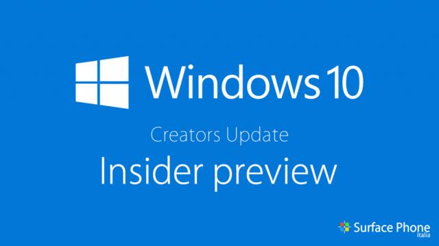 Пресс-релиз сборки Windows 10 Insider Preview Build 15046