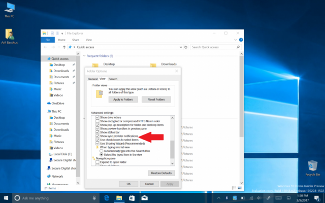 Реклама в Проводнике Windows 10