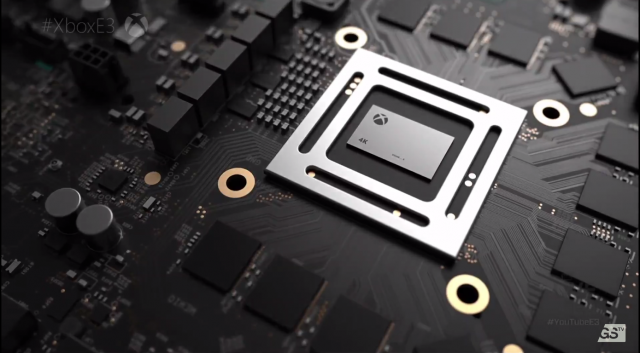 Консоль Xbox Scorpio будет содержать внутренний блок питания и поддерживать запись игр 4K