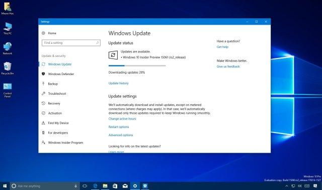 Windows 10 Build 15061 доступна для загрузки
