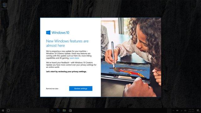 Windows 10 Creators Update рекламируют перед релизом