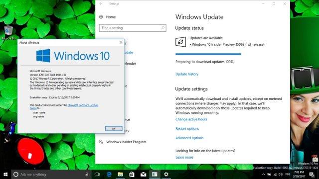 Windows 10 Build 15063 доступна для загрузки