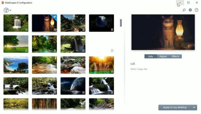 DeskScapes 8 – приложение анимированных обоев