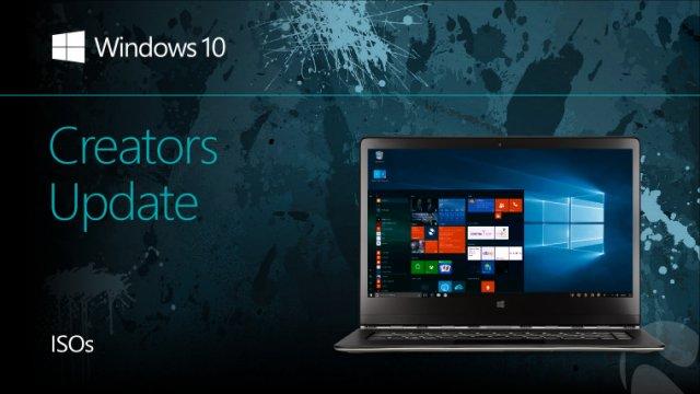 Стали доступны официальные ISO-образы сборки Windows 10 Creators Update Build 15063