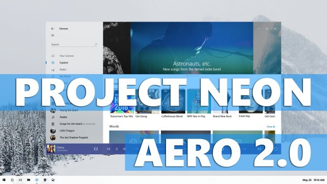 Project Neon – Windows Aero 2.0