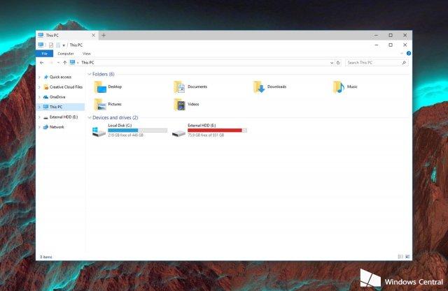 Microsoft экспериментирует с вкладками в проводнике и приложениях Windows 10