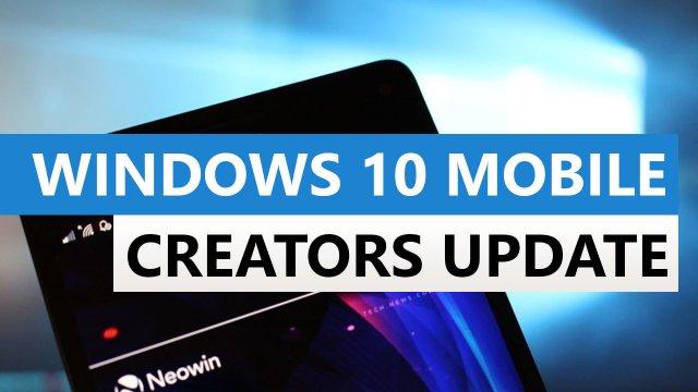 Windows 10 Mobile и Creators Update