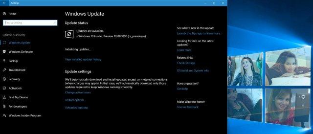 Windows 10 Build 16188 доступна для загрузки
