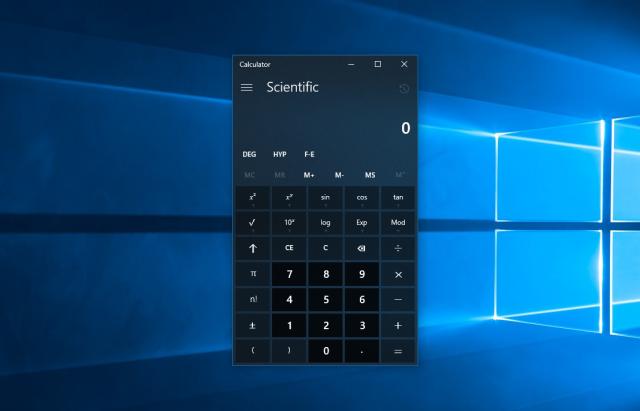 Приложение Калькулятор на Windows 10 получило обновление с дизайном Neon