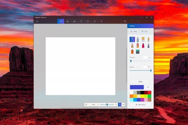 Приложение Microsoft Paint 3D получило обновление Neon и улучшенное меню «Файл»