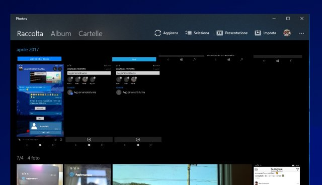 Обновление приложения «Фотографии» на Windows 10 принесло элементы дизайна Neon