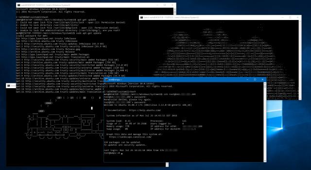 Для запуска Bash на Windows больше не нужно активировать режим для разработчиков