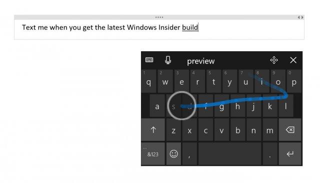 Windows 10 Build 16215 улучшает работу с программной и аппаратной клавиатурой и голосовым набором текста