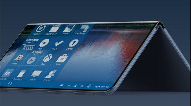 Концепт Surface Note оживляет патент Microsoft на сворачиваемые смартфоны