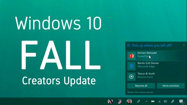 5 лучших функций Windows 10 Fall Creators Update