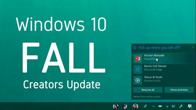 5 лучших функций Windows 10 Fall Creators Update