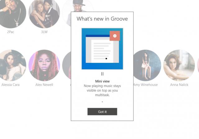 Приложение Groove Music в Windows 10 получило новый мини-плеер