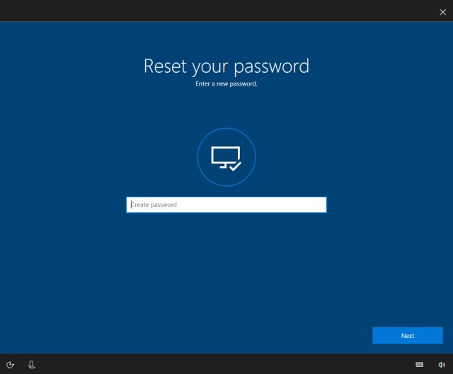 Windows 10 вскоре позволит восстанавливать пароль от учётной записи Microsoft с экрана блокировки