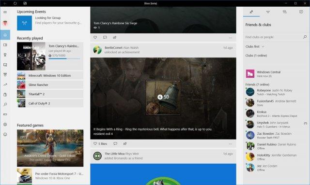 Панель Xbox One получит светлый вариант интерфейса