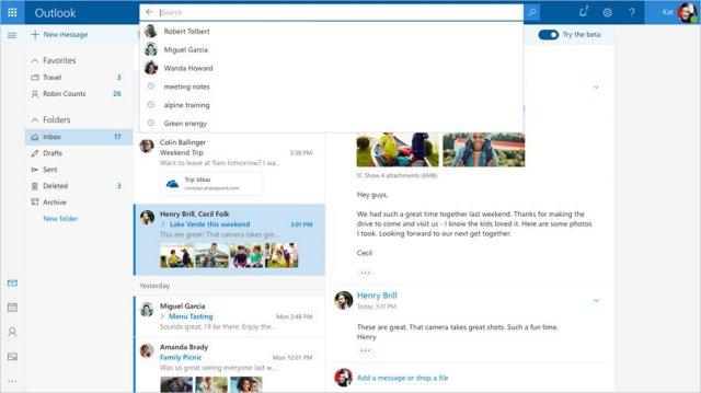 Microsoft запускает новый бета-сайт Outlook.com