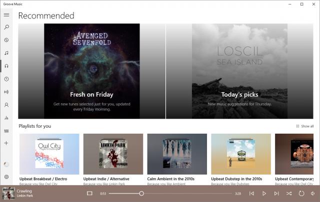 Приложение «Музыка Groove» обновлено до версии 10.1702.1261.0