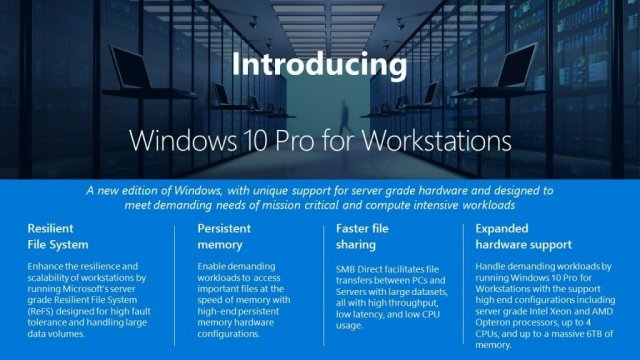 Редакция Windows 10 Pro for Workstations появится вместе с Fall Creators Update