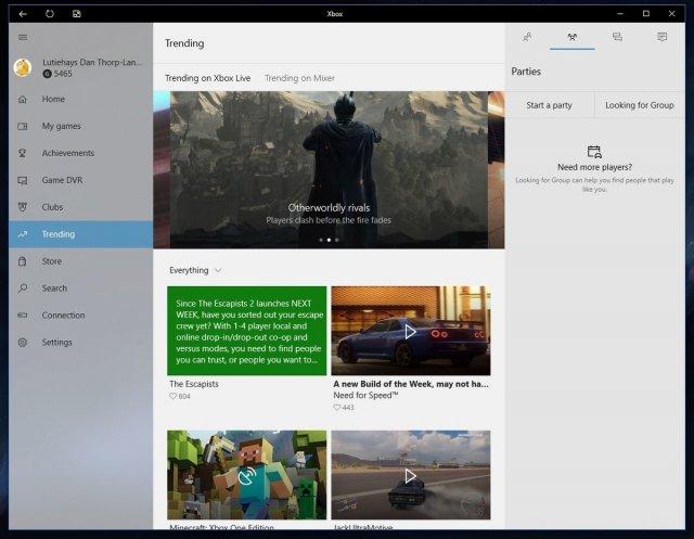Обновление приложения Xbox для Windows 10 приносит светлый интерфейс всем пользователям