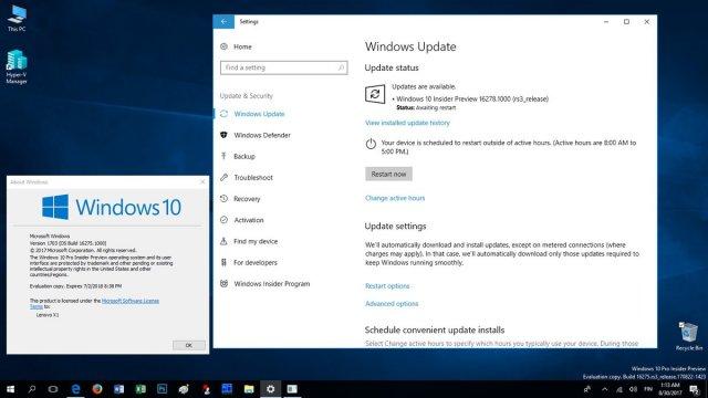 Windows 10 Build 16278 доступна для загрузки