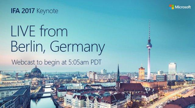 Выступление Microsoft на конференции IFA 2017 состоится 1 сентября