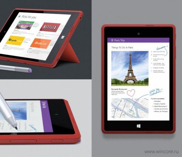 Спецификации и рендеры Surface Mini