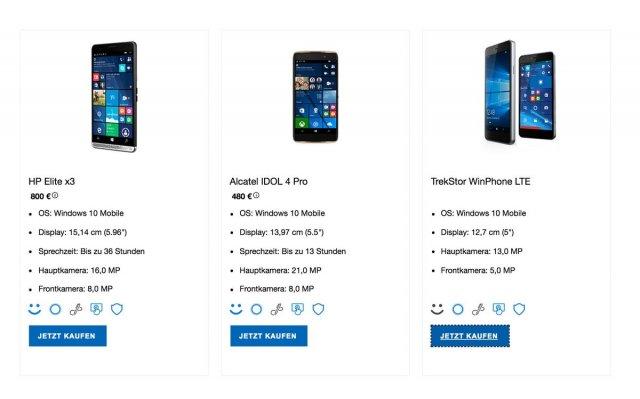 Смартфон Trekstor WinPhone 5 появился в немецком разделе Microsoft Store