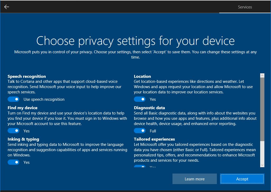 OOBE будет обновлен в Windows 10 » MSReview – Новости из