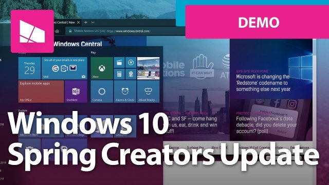 Видеообзор Windows 10 Spring Creators Update