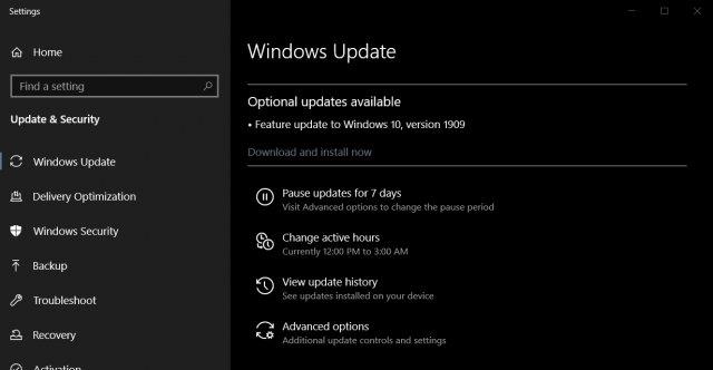 Ноябрьские обновления Windows 10