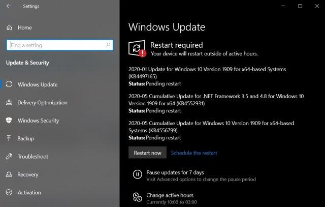 Новое обновление Windows 10